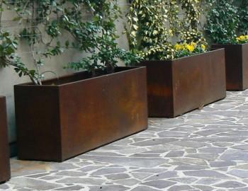 Fioriera metal corten shop plateatico it for Balaustre in cemento leroy merlin